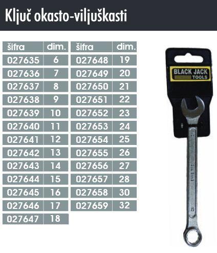N/A ključ okasto viljuškasti 6 ( 027635 )