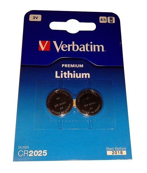 Verbatim CR2025 Litijumsaka baterija 2 komada 49935 ( CR2025V/Z )