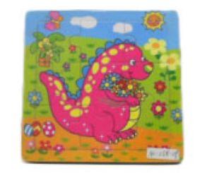 Hk Mini igračka drvena slagalica dinosaurs 15x15 ( 6261936 )
