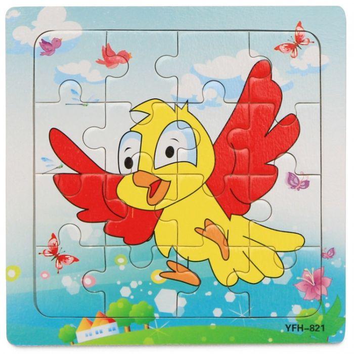 Hk Mini igračka drvena slagalica ptičica 15x15 ( 6261933 )
