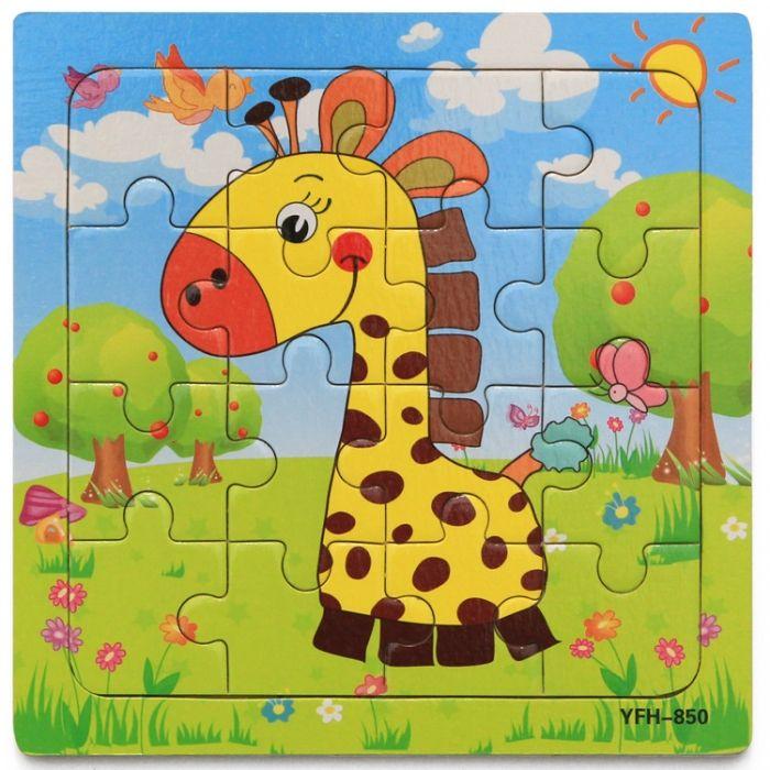 Hk Mini igračka drvena slagalica žirafa 15x15 ( 6261931 )