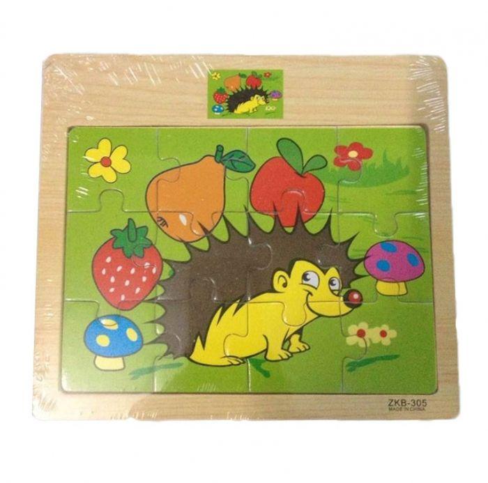 Hk Mini igračka drvena slagalica jež ( 6261922 )