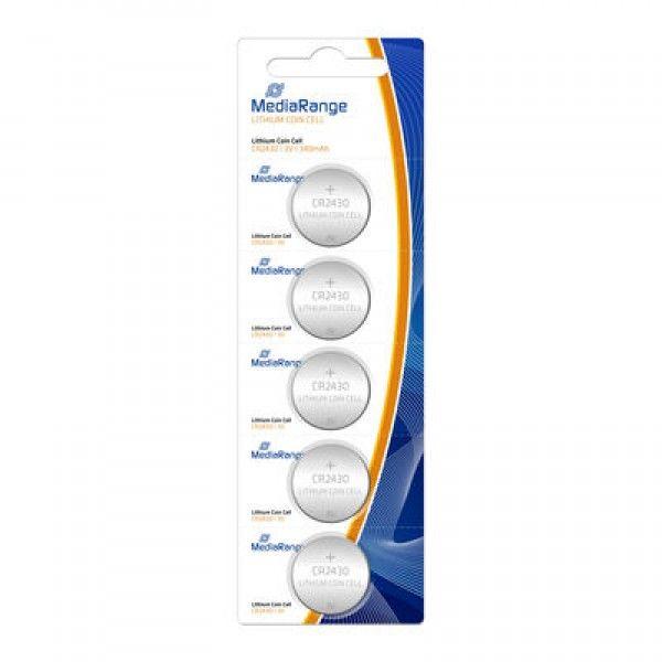 MediaRange LITIJUM BATERIJE CR2430 3V 5PACK MRBAT137 Litijum Baterija ( CR2430MR/Z )