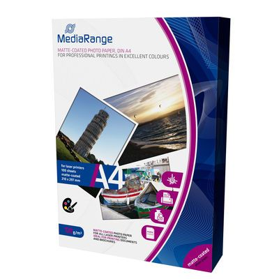 MediaRange MRINK106 A4 foto papir matte coated 120g 100 lista ( FP120MR/Z )