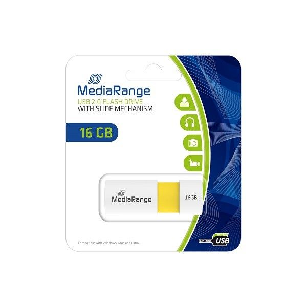 Mediarange 16GB USB 2.0 Color edition yellow MR972 fleš memorija ( UFMR972 )