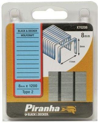 Piranha X70208 Klamerice BD 8mm X 1200