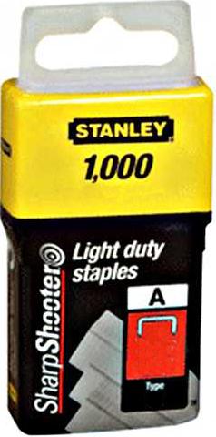 Stanley 1-TRA209T Klamerice tip A 14mm 1000kom