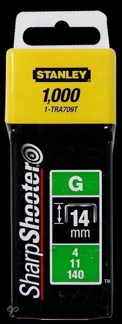 Stanley 1-TRA709T Klamerice tip G 14mm 1000kom