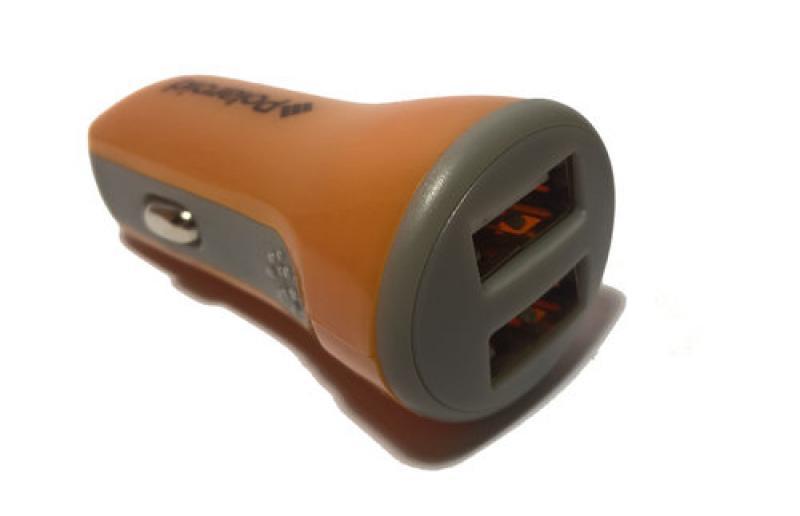 Polaroid Auto punjač 2USB 2.1A narandžasti ( 222685 )