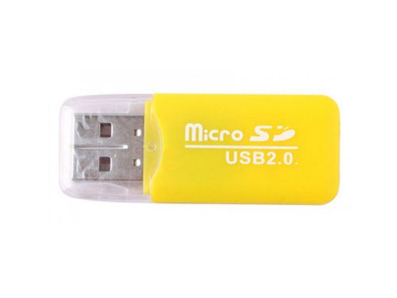 Čitač mikro sd kartica CR-501 žuti ( 10-108 )