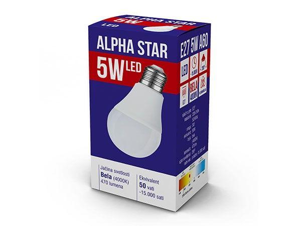 Alpha Star E27 5W 470LM 4.000K 15.000H sijalica ( E275ASD/Z )