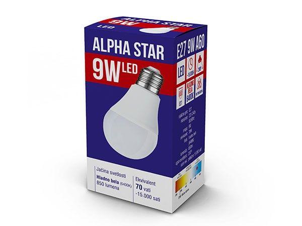 Alpha Star E27 9W 850LM 6.400K 15.000H sijalica ( E279ASC/Z )