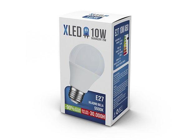 Xled E27 10W 850LM 5500K bulbe 30.000H no dim sijalica ( E2710XC/Z )
