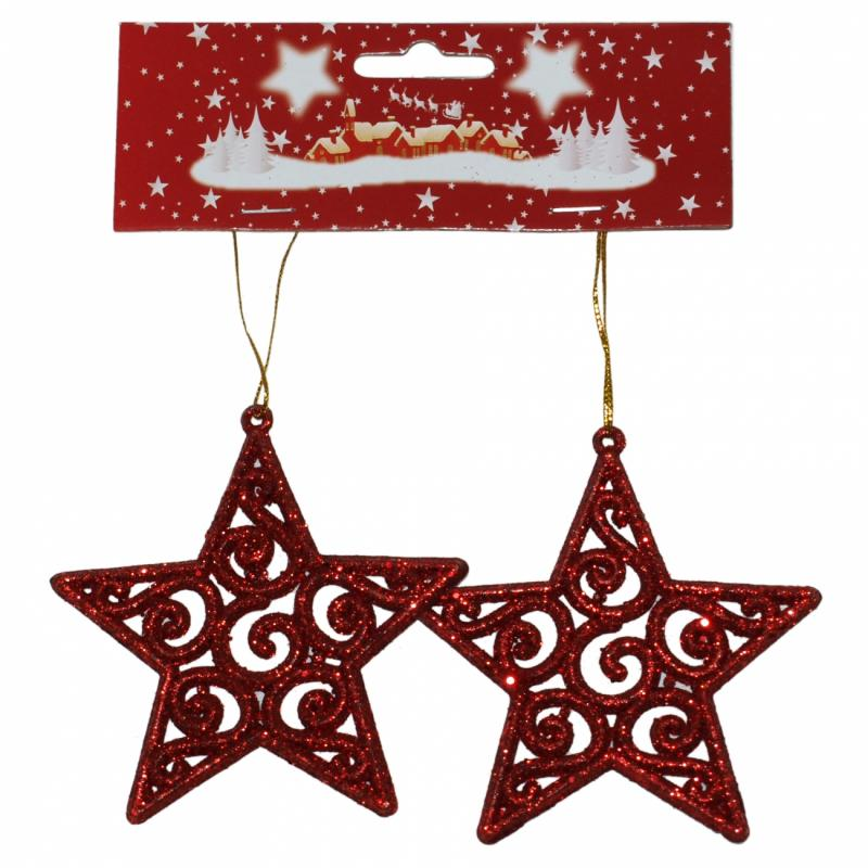 Božićna Zvezda 10 cm 2kom ( 40-603000 )