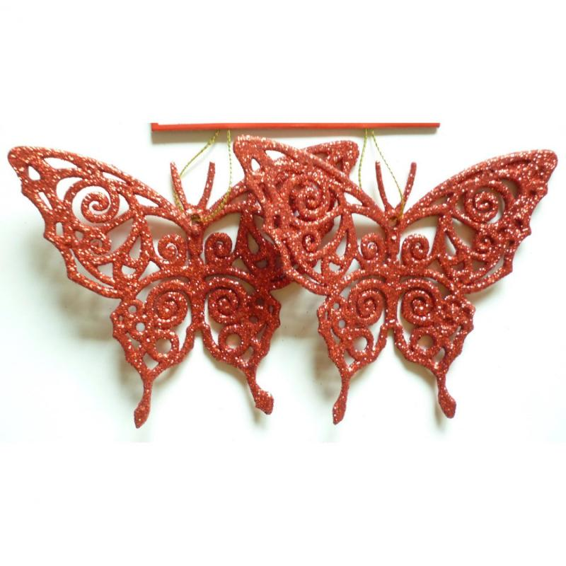 Leptir 11 cm 2kom set crveni ( 40-613000 )