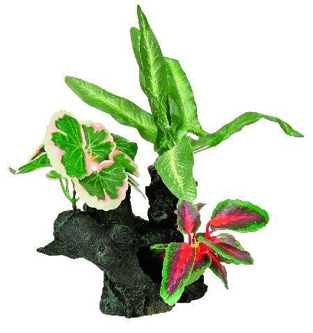 Trixie 6 balvana sa svilenim biljkama, mala ( 8940 )