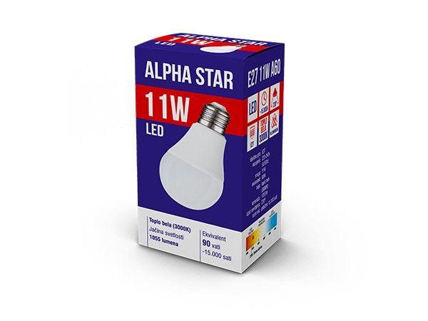 Alpha Star E27 11W 1055LM 3.000K 15.000H sijalica ( E2711ASW/Z )