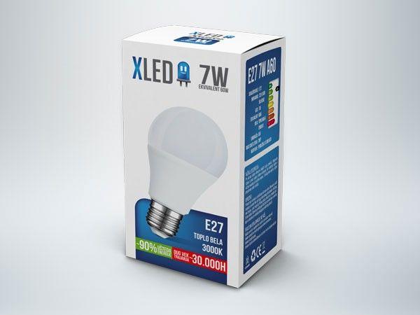 Xled E27 7W 500LM 3000K 30000H sijalica ( E277X/Z )