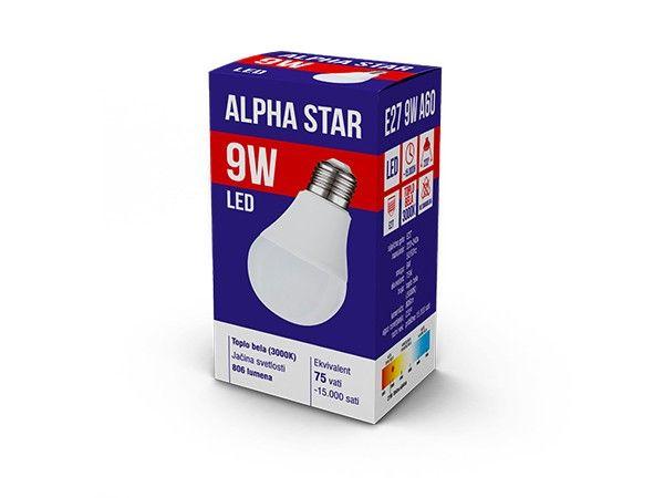 Alpha Star E27 9W 806LM 3.000K 15.000H sijalica ( E279ASW/Z )