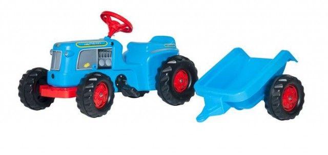 Rolly toys Classic Traktor na pedale sa prikolicom - plavi ( 620012 )