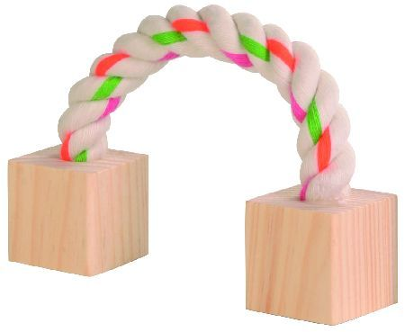 Trixie Uze sa drvenim kockicama za hrcka 20 cm  ( 6186 )