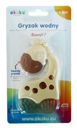 Akuku glodalica punjena vodom/silikon žirafa ( 6490021 )