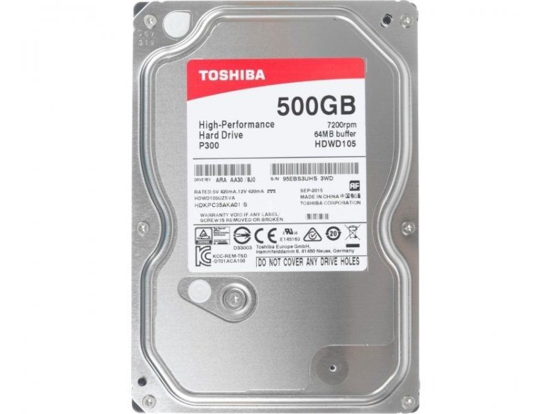 Toshiba 3,5 500GB SATA3 P300 7200rpm HDWD105UZSVA ( 0140676 )