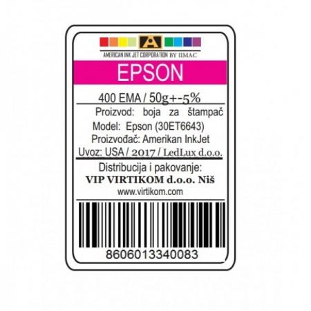 American Inkjet Epson CRVENA 400EMA/T66430/T67330/T67430/ECO-TANK (30ET6643/Z)
