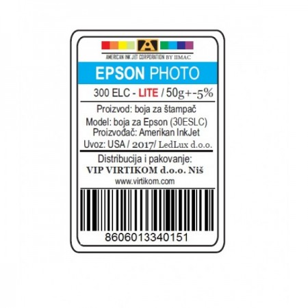 American Inkjet Epson SUBLIMACIONA LIGHT C 300ELC/1400/1430 WF/XP (30ESLC/Z)