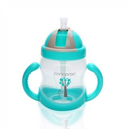 Cangaroo Baby šolja sa plastičnom slamkom 280ml ( CAN0582 )