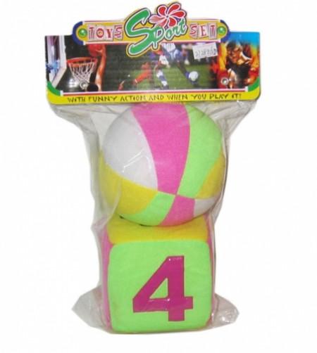 HK Mini igračka mekana loptica i kocka ( 6220488 )