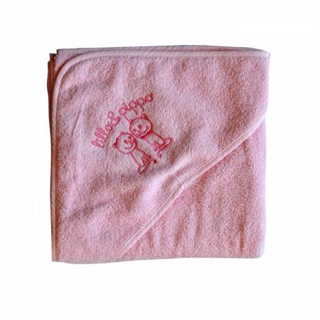 Lillo&Pippo peškir, 001-W,roze,sa kapuljačom,100x100CM ( 7070397 )