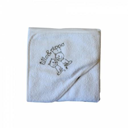 Lillo&Pippo peškir, 002-W,bela,sa kapuljačom,80x80CM ( 7070398 )