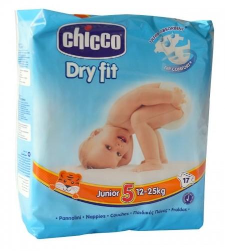 Chicco pelene DRYFIT 5 Junior , 12-25 kg, 17 kom. ( 1040052 )