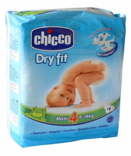 Chicco pelene DRYFIT 4 Maxi, 8-18 kg ,19 kom. ( 1040051 )
