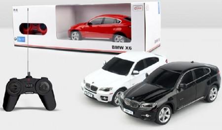 Rastar igračka RC automobil BMW X6 1:24 - crv, bel ( 6210134 )