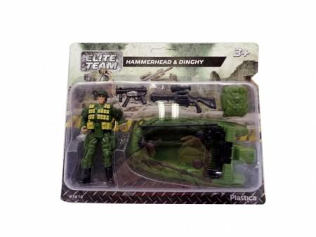 HK Mini igračka, vojnički set sa čamcem ( 6630034 )