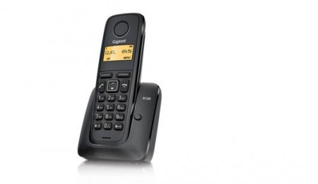 Siemens Gigaset A120 IM-East bežični telefon crni