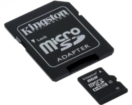 Kingston MicroSDHC 8GB + Adapter SDC4/8GB