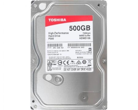 Toshiba 500GB 3.5 SATA III 64MB 7.200rpm P300 series ( HDWD105UZSVA )