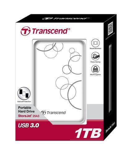 Transcend External HDD 1TB USB3.0 2.5 beli ( TS1TSJ25A3W )