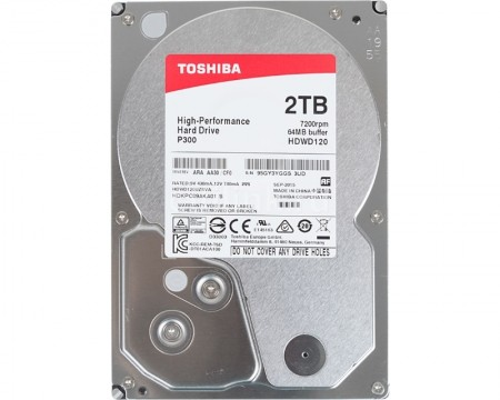Toshiba 2TB 3.5 SATA III 64MB 7.200rpm P300 series bulk ( HDWD120UZSVA )