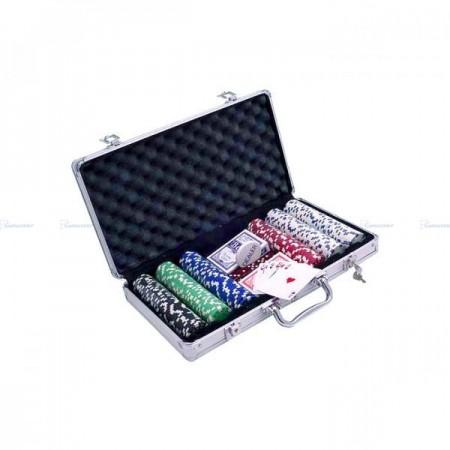 Poker set žetona dizajn sa kockama ( POK-300J )