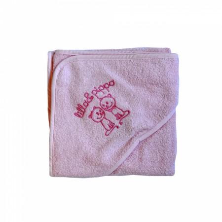 Lillo&Pippo peškir, 002-W,roze,sa kapuljačom,80x80CM ( 7070401 )