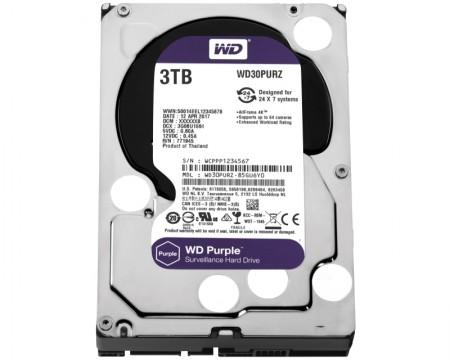 WD 3TB 3.5 SATA III 64MB IntelliPower WD30PURZ Purple
