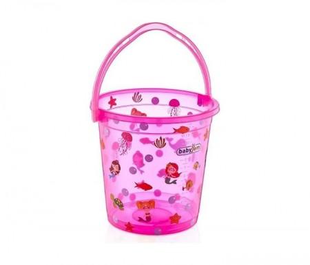 Babyjem  kofica za kupanje bebe - pink transparent ocean ( 92-23999 )
