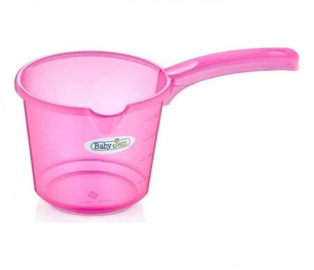 Babyjem  bokal za kupanje beba - pink transparent ( 92-23326 )