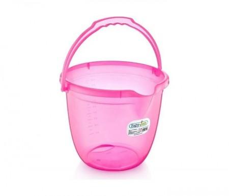 Babyjem  kofica za kupanje bebe - pink transparent ( 92-23319 )