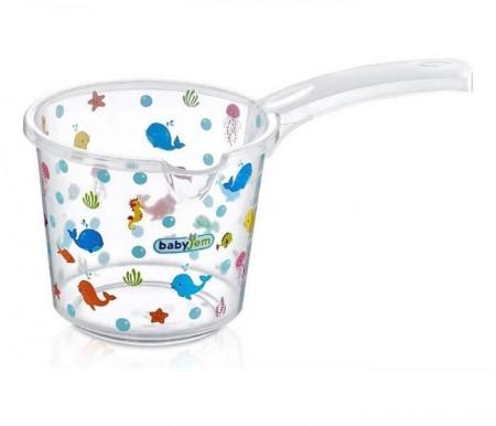 Babyjem  bokal za kupanje beba - white transparent ocean ( 92-14003 )