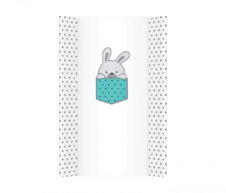 Klups Tvrda podloga za presvlacenje beba little bunnies blue - 70cm ( PT70/340 )